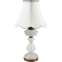 Vintage Warren Kessler White Opaline Glass Table Lamp