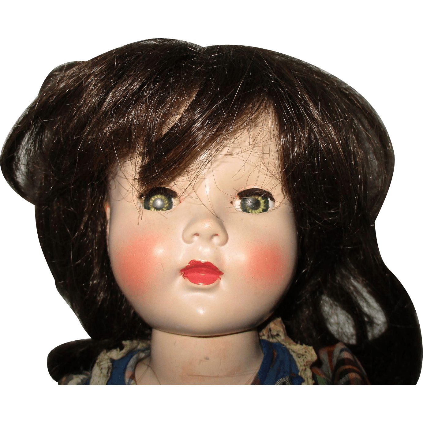 Vintage Human Hair Wig For Your Doll from atticangel on Ruby Lane