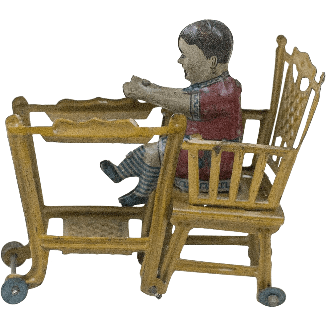 old high chair ideas aluminum folding lawn rare 1910s antique german lithographed tin baby in a