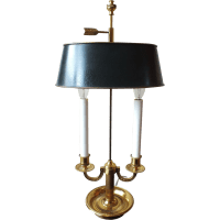 Vintage French Gilt Bronze Empire Style Bouillotte Lamp