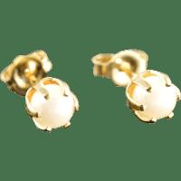 14K 5 MM Pearl Stud Earrings Yellow Gold SOLD on Ruby Lane
