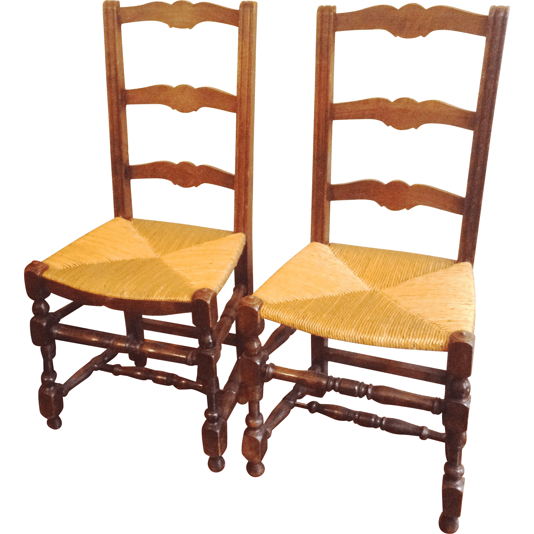 antique ladder back chairs with rush seats zero gravity pair french ladderback