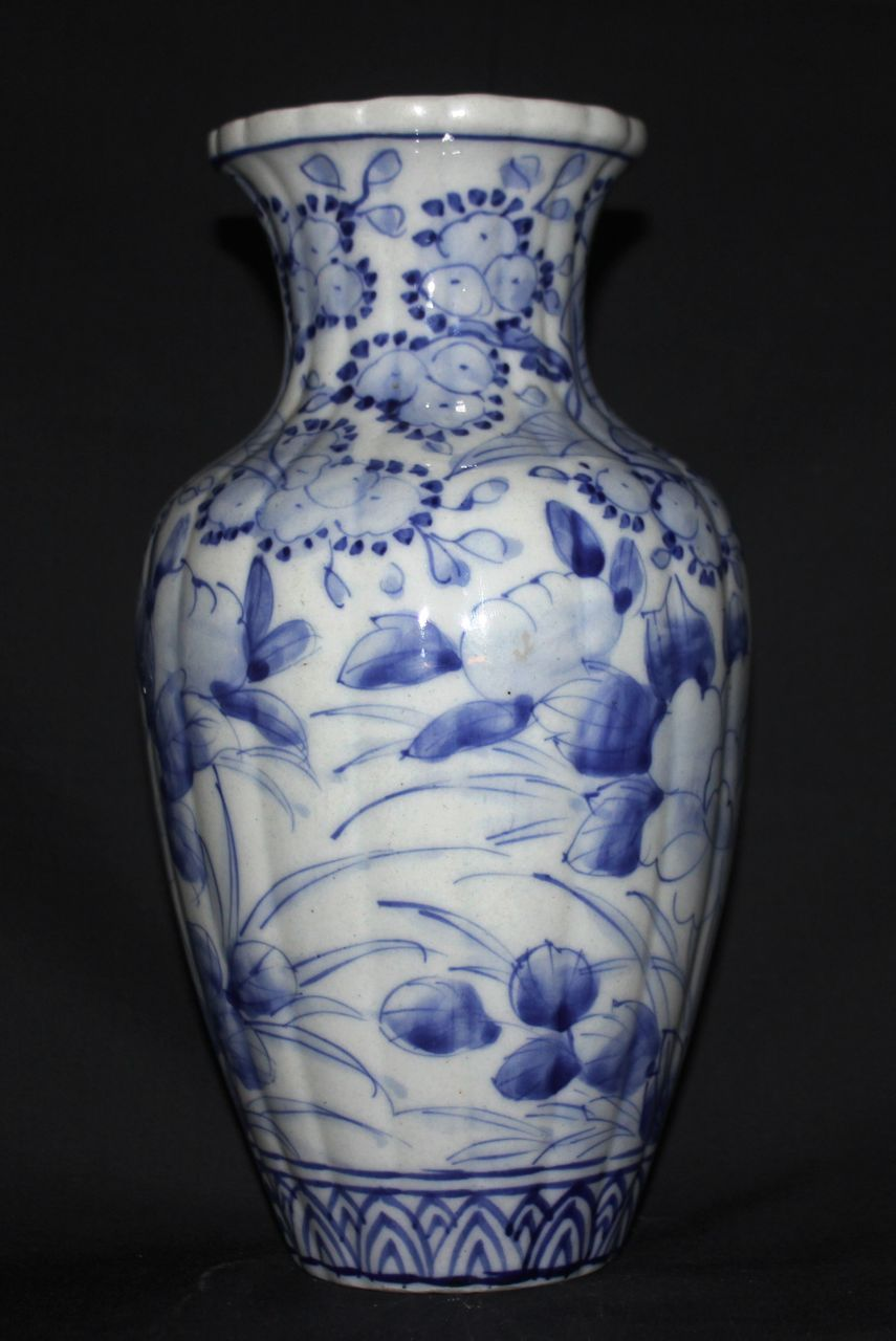 Japanese Antique Seto Ware Porcelain Lovely Blue And White
