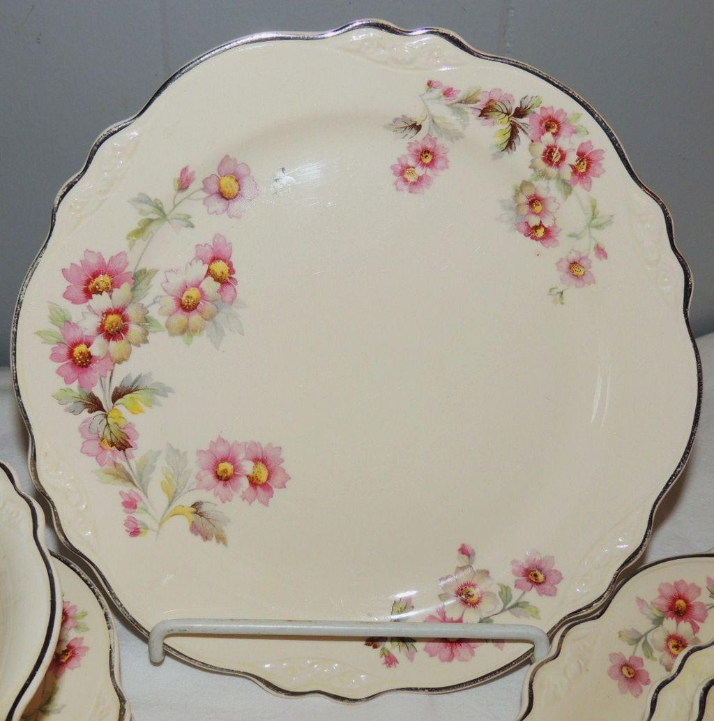 Homer Laughlin Virginia Rose Dinnerware Dishes 44 Pc