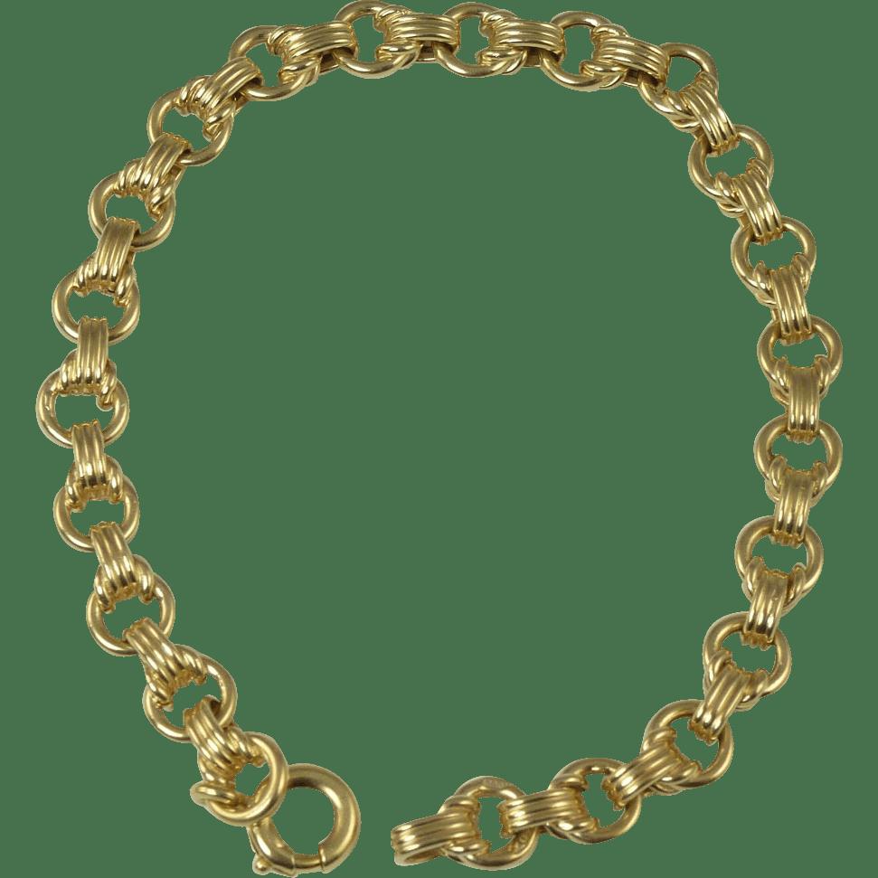 Vintage 18kt Gold Link Bracelet Sold On Ruby Lane