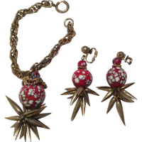 Hanging Bead Bracelet with Earrings from robinbeth on Ruby