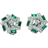 SARAH COVENTRY Rhinestone Earrings from ajax-vintage-shop ...
