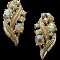 CORO Rhinestone Vintage Earrings from ajax-vintage-shop on ...