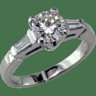Classic 1 ct Diamond Platinum Engagement ring from ...
