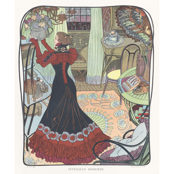 1900 Art Nouveau Paintings of Women