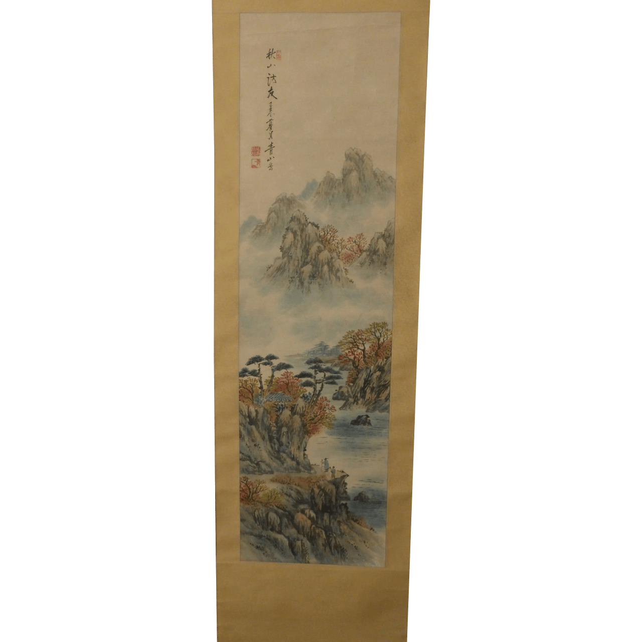 Lovely Vintage Chinese Painting Scroll Signed Seals