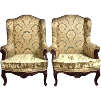 Two beautiful old chairs in big model in French Louis XVI ...