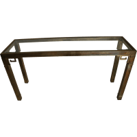 Mid Century brass sofa or console table by Mastercraft