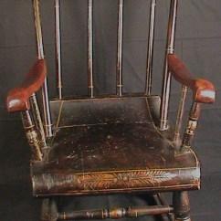 Antique Child Rocking Chair Modern Reading Child's Roses & Stenciled 19th C. Boston Rocker : Ago | Ruby Lane