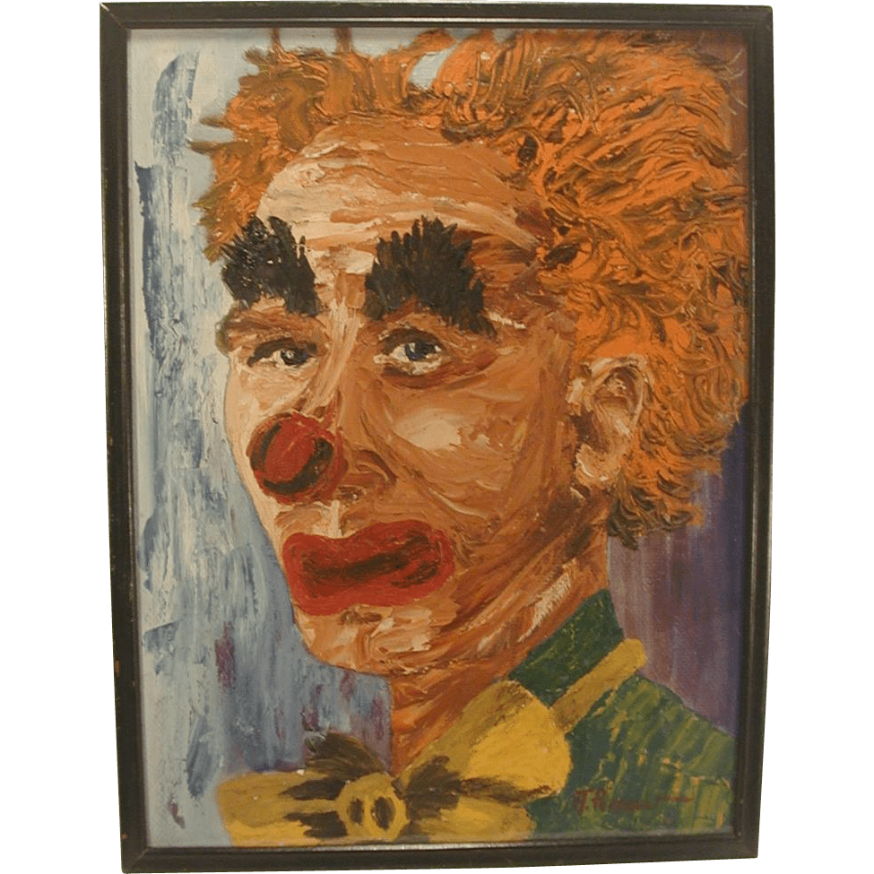 Vintage Clown Paintings 1930s - Year of Clean Water