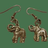 Vintage Sterling Silver Elephant Earrings Detailed African ...