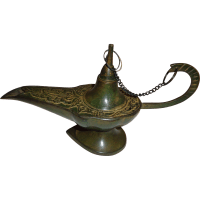 Vintage Bronze Genie Lamp Persian with Aesthetic ...