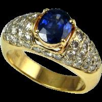 Deep Ceylon Blue Sapphire Diamond Engagement Ring Sapphire ...