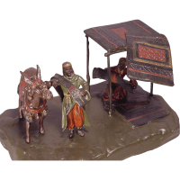 Antique Vienna Bronze Carpet Sellers & Donkey from ...
