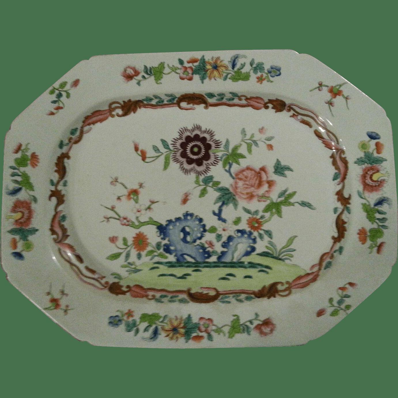 """17"""" Spode Stone China Platter Severnant Ruby Lane"""