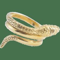 14K Yellow Gold Snake ring from louis-michaels on Ruby Lane