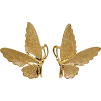 Unique 14k Yellow Gold Butterfly Stud Earrings from ...