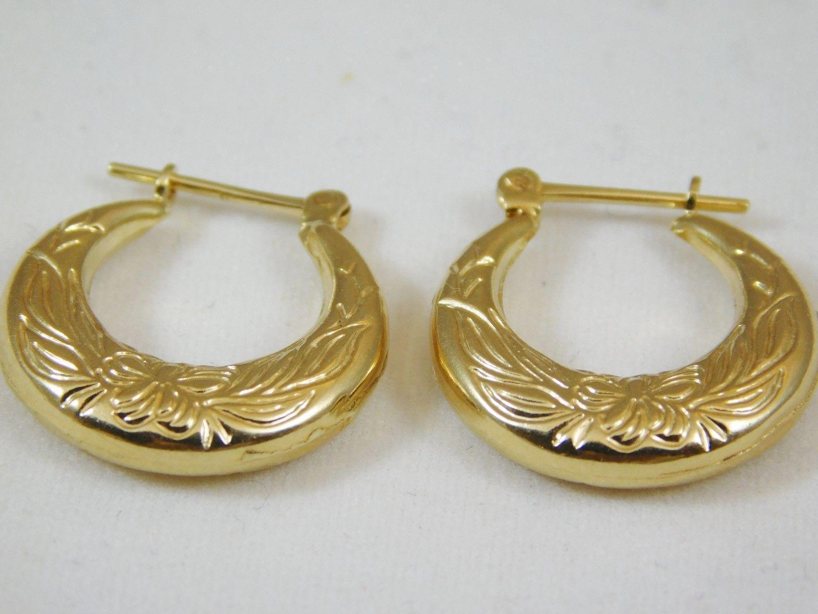 Karat Yellow Gold Small Hoop Earrings