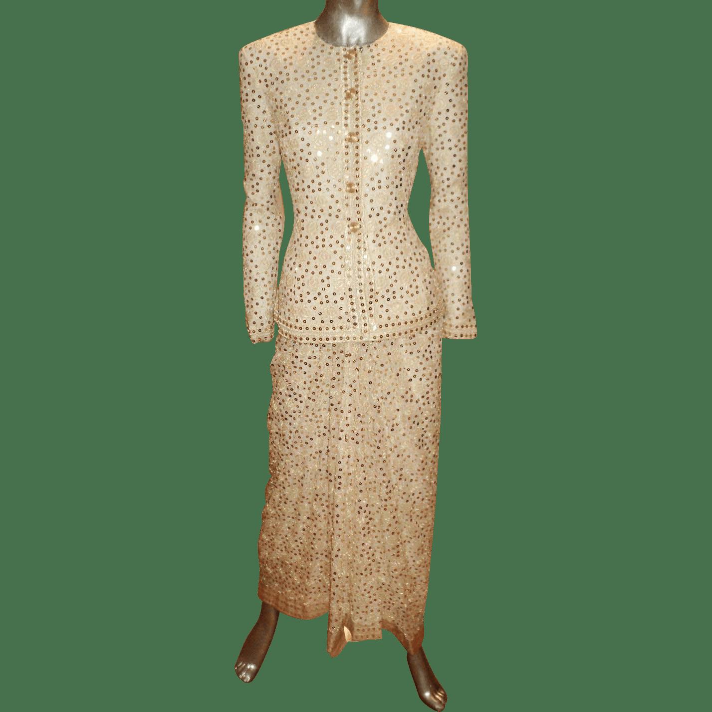 Gold Skirt Suit