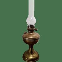 Vintage Brass Kerosene Lantern, Glass Flute w/ Wavy Glass ...