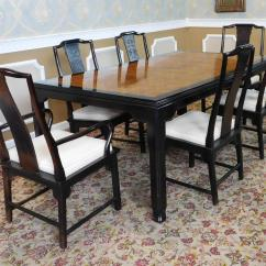 Asian Style Dining Chairs Cloth Room 1980s Century Furniture Raymond K Sobota Chin Hua