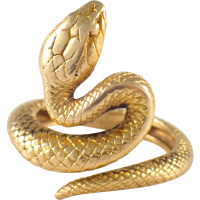 Tiffany & Co. Art Nouveau 18k Yellow Gold Snake Ring from ...
