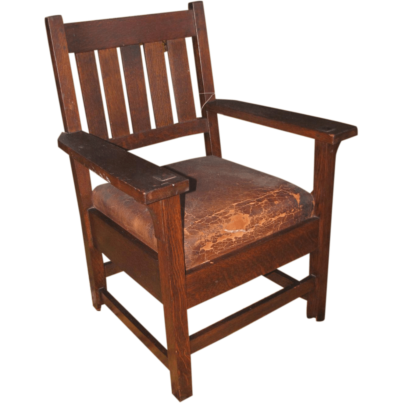 Stickley Chair Antique Early Gustav Stickley Arm Chair W2616 From Antique
