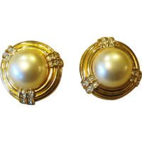 Ciner Fabulous Faux Pearl and Rhinestone Signed Vintage ...