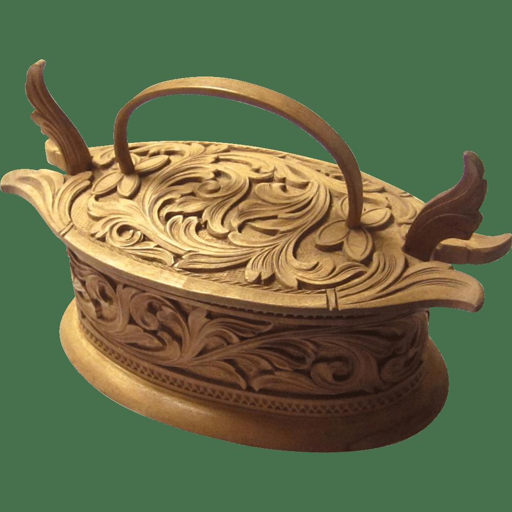 Superb Acanthus Carved TineTina Norwegian 19th Century
