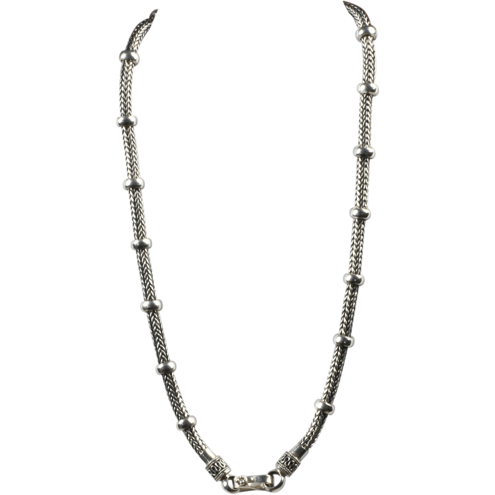 20 Inch Weave Sterling Necklace : Goodbee Collectables