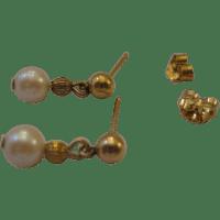 Sweet Estate Dangle Pearl Earrings 14kt from duchessdigs2 ...