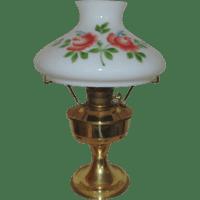 #23 Aladdin Brass Lamp Oil Kerosene w/ Hand-Painted Roses ...