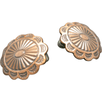 Copper concho earrings Clip on style Vintage from ...
