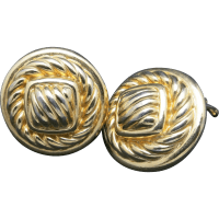 Erwin Pearl earrings gold tone metal Clip on Bold from
