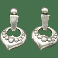 James Avery earrings sterling silver Heart motif Pierced ...