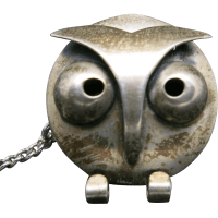 owl tie tack Beau Sterling Mid century Modern design from ...