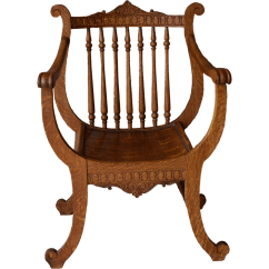 Weird Shaped Chairs Stadium Seating Oak Carved Unusual Lyre Back Music Chair From