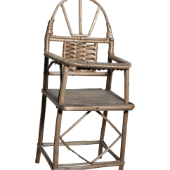 High Chair For Dolls Polywood Folding Adirondack Chairs Miniature Wood And Woven Wicker Doll From