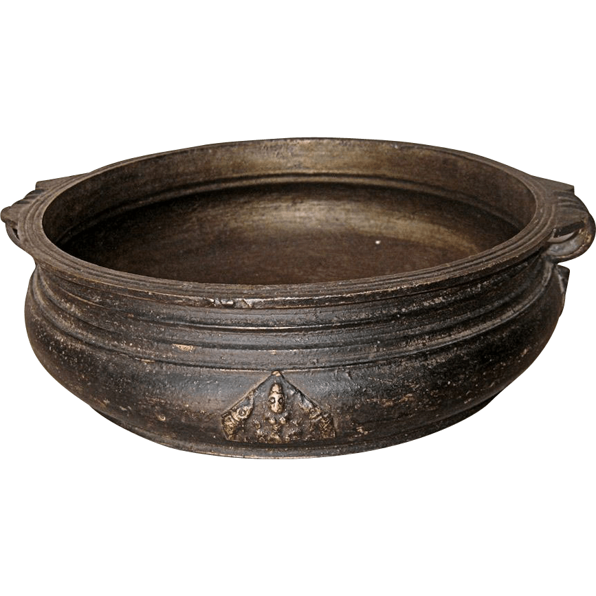 Antique Southeast Asian Bronze Low Bowl from