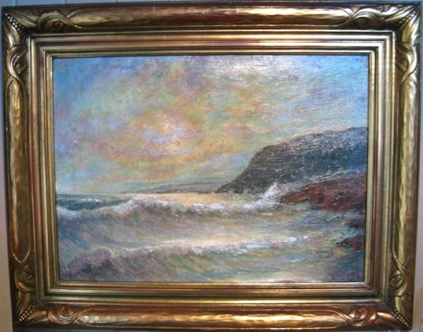 Oil Painting Of Seascape James Arthur Merriam Dynastycollections Ruby Lane