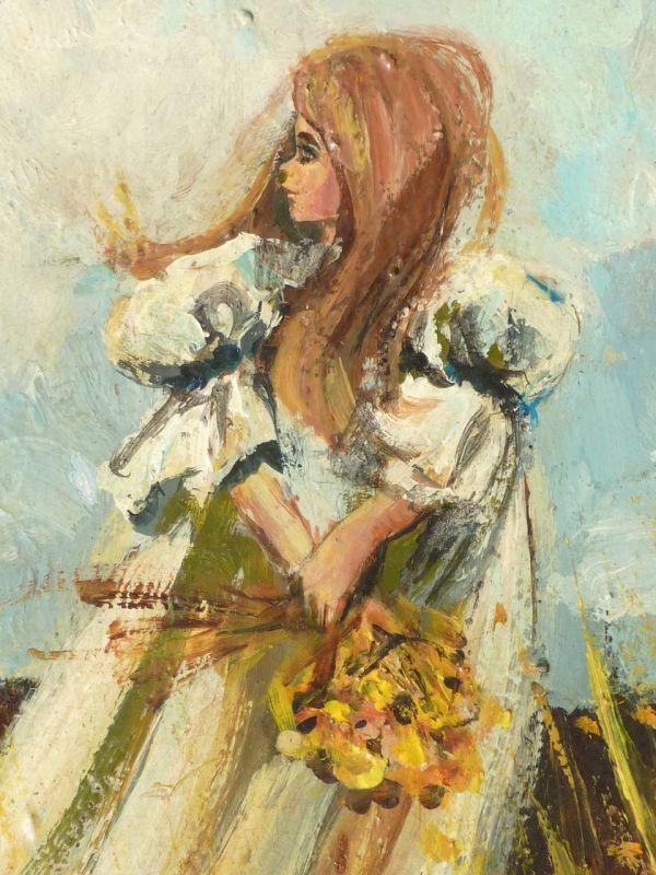 Mid Century Oil Painting