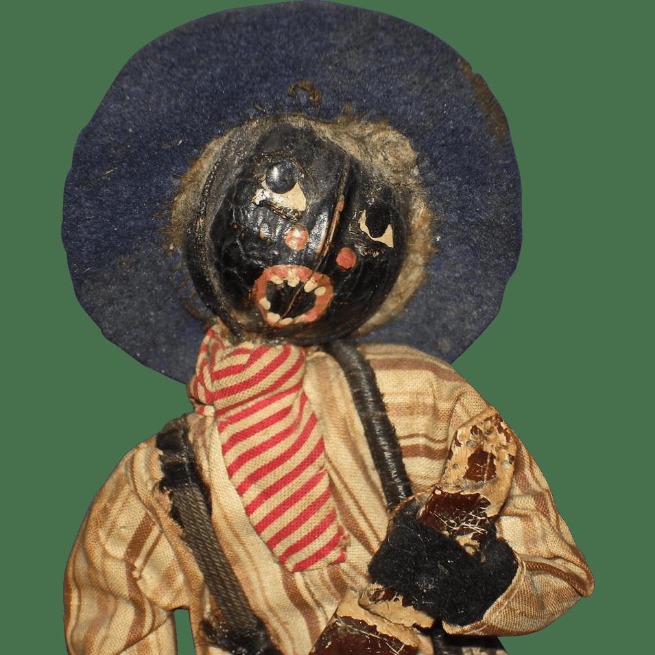 Loveleigh Banjo Player Black Folk Art Doll Americana