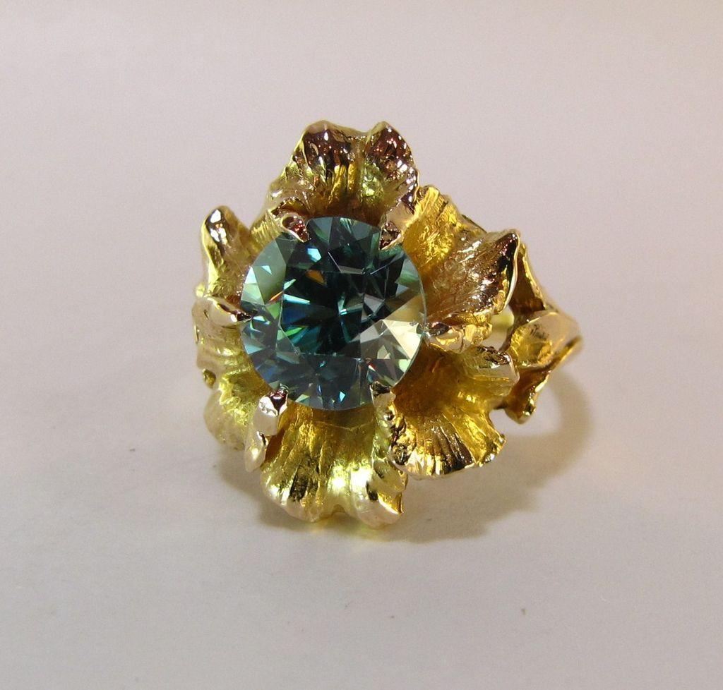 Fabulous Zircon Natural 35 Ct 14k Ring From Exquisitegems