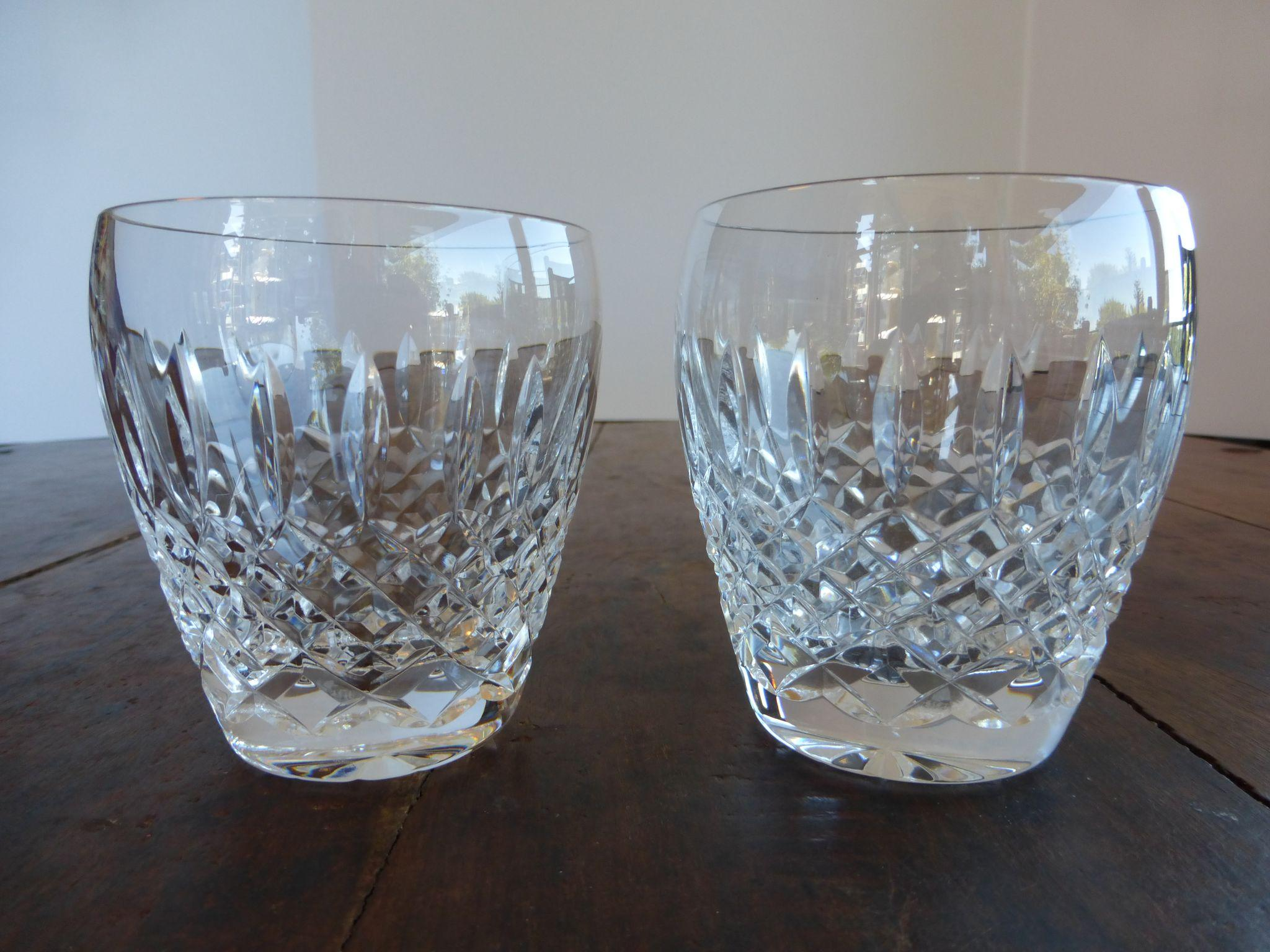 Waterford Crystal Castlemaine Fashioned Glasses Pair Historique Ruby Lane