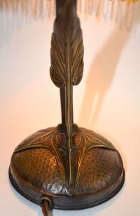 Austrian Art Nouveau Lamp With Chunk Glass Jewels from ...